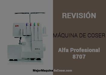 Maquina Remalladora Alfa Profesional 8707