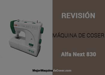 Máquina de Coser Alfa Next 830