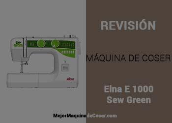 Máquina de Coser ELNA E 1000 Sew Green