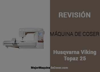 Máquina de Coser Husqvarna Viking Designer Topaz 25