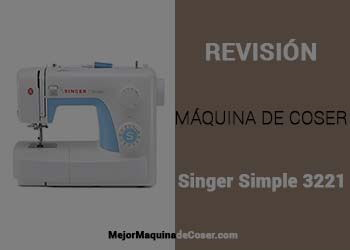 Máquina de Coser Singer Simple 3221