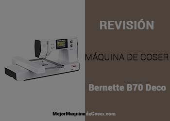 Máquina de Coser Bernette B70 Deco